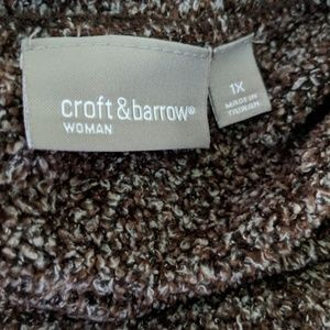 croft & barrow Sweaters - PLUS 1X CROFT & BARROW Warm Crew Neck Sweater